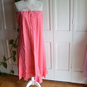 Old Navy Pink Linen Maxi skirt Size 14